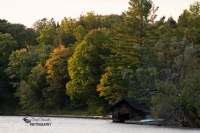 Boathouse at Sunset