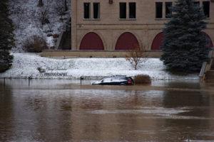 Thames River Flooded